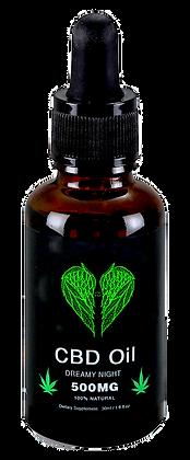 CBD Oil - Dreamy Night - 500MG CBD - 100% Natural - 1OZ - Made in USA