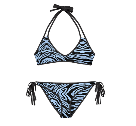 BLUE TIGER Reversible Bikini Set