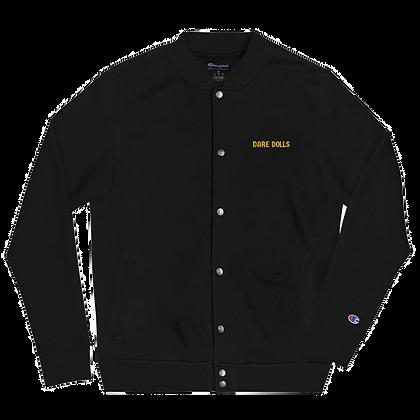 Gold DARE DOLLS Champion Bomber Jacket