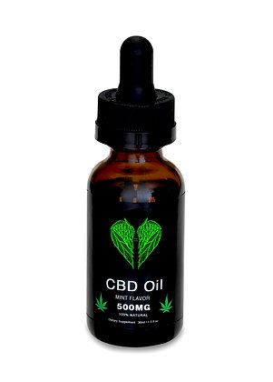 CBD Oil - Mint Tincture - 500MG CBD - 100% Natural - 30ml - Made in USA