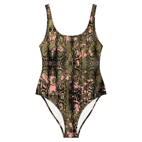 CAMO SNAKE One-Piece Swimsuit