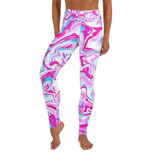 PINK BLEU MARBLE Yoga Leggings