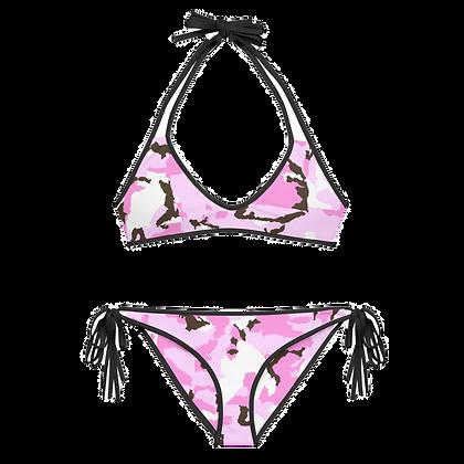 PINK CAMO Reversible Bikini Set