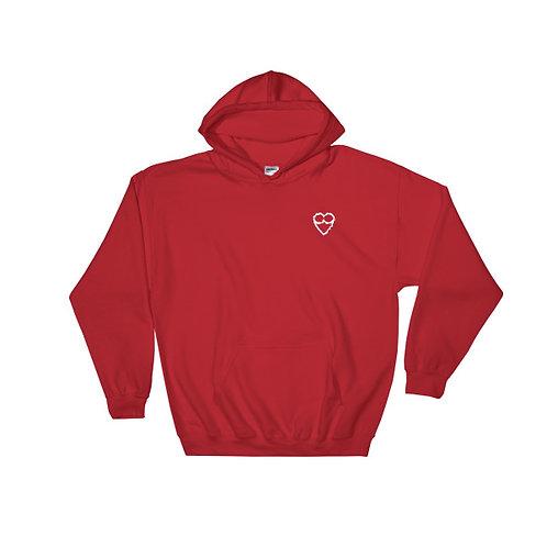 HEART Unisex  RED Hoodie