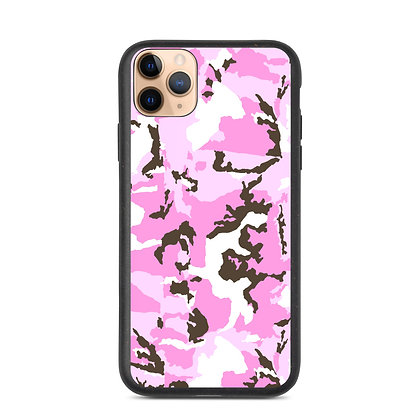 PINK CAMO Biodegradable phone case
