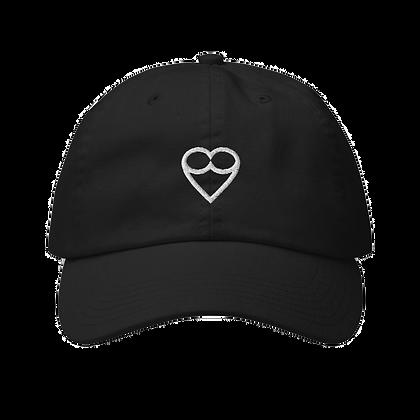 White HEART Champion  Cap (Black/Nude)