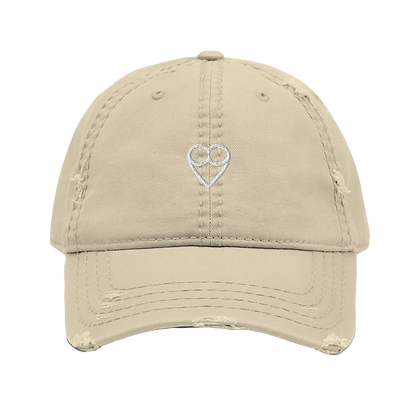 HEART Distressed Dad Hat (embroidered)
