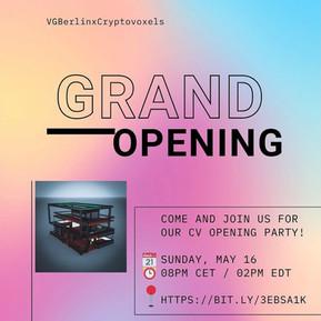 VGBerlin x Cryptovoxels Grand Opening