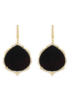 Antoinette Earrings Gold Black Onyx