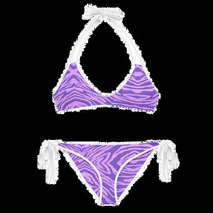 PURPLE TIGER Reversible Bikini Set