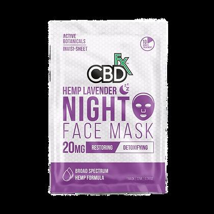 CBDfx - CBD Face Mask - Lavender Night Mask - 20mg