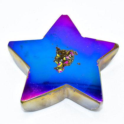 Rainbow Agate Druzy Starfish