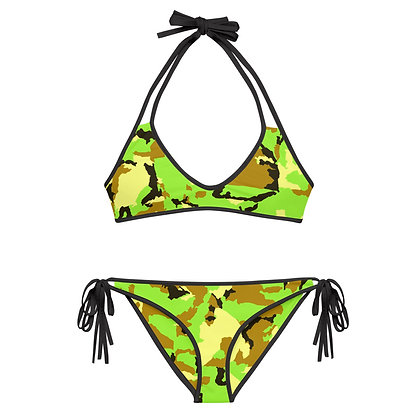GREEN CAMO Reversible Bikini Set