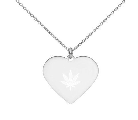 FLY HIGH Engraved  Heart Necklace
