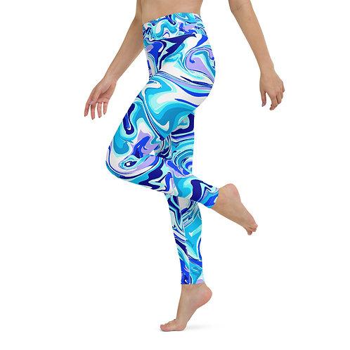 BLEU MARBLE Yoga Leggings