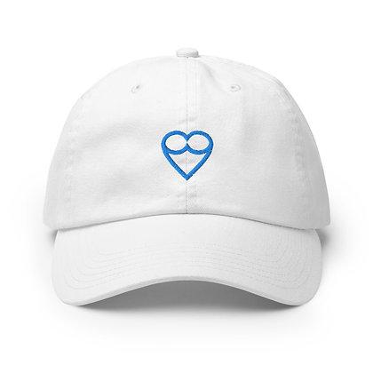 BLUE HEART Champion  Cap (Black / White)