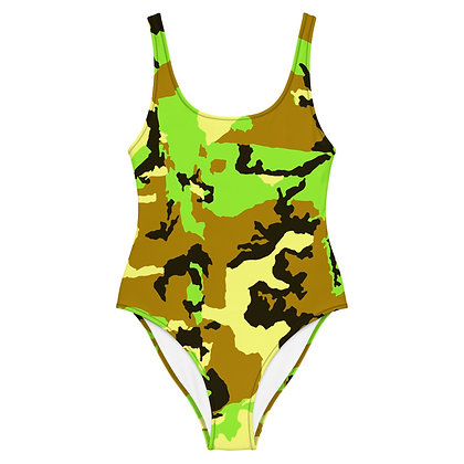 GREEN CAMO One-Piece Swimsuit