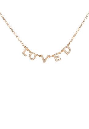 Choker Loved Necklace Rose Gold