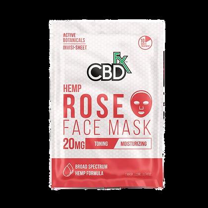 CBDfx - CBD Face Mask - Rose - 20mg