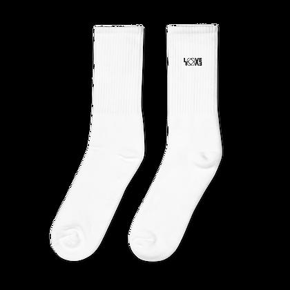 Black LOVE Embroidered socks
