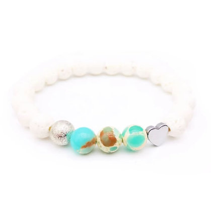 Ocean Lava Stone Bracelet