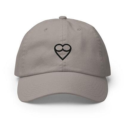 Black HEART Champion  Cap (White/Nude)