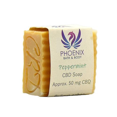 Phoenix Natural Wellness - CBD Bath - Peppermint Soap - 50mg