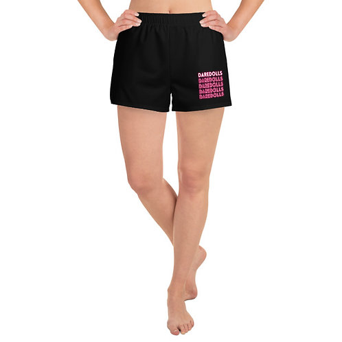 NEON PINK ATHLETIC BLACK SHORT