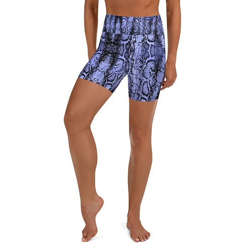PURPLE SNAKE Yoga Shorts
