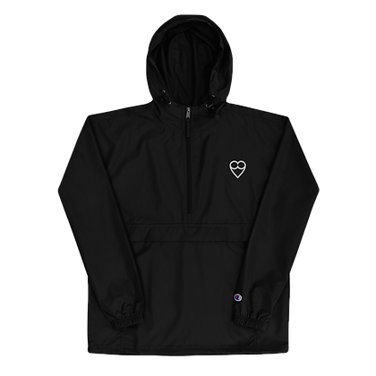 HEART Embroidered Champion Packable Jacket