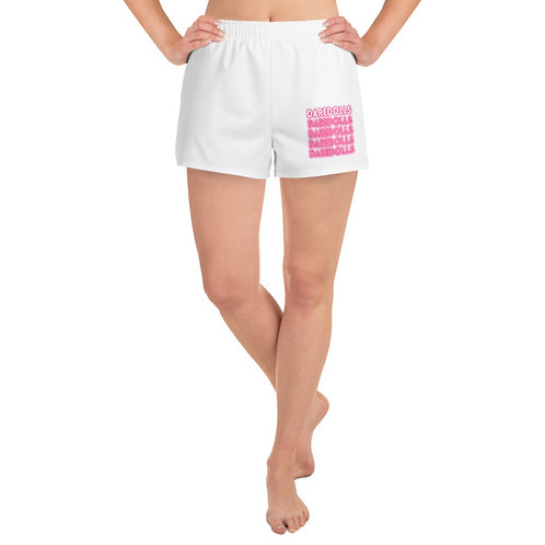 NEON PINK ATHLETIC WHITE SHORT