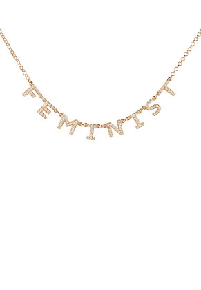Choker Feminist Necklace Rose Gold