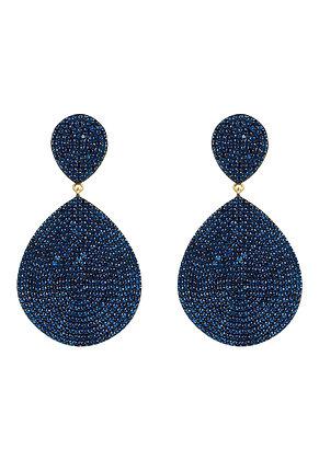 Monte Carlo Earring Gold Sapphire Zircon