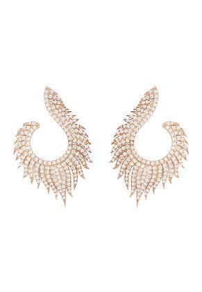Flame Hoop Earrings Rosegold