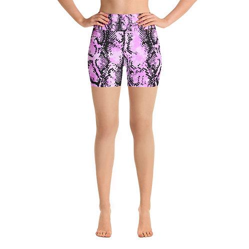 PINK SNAKE Yoga Shorts