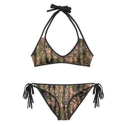CAMO SNAKE Reversible Bikini Set