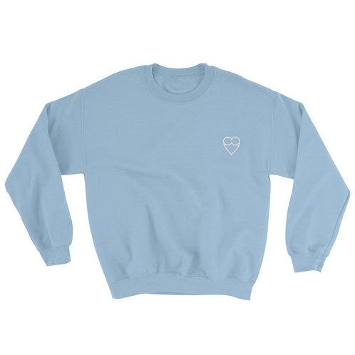 HEART Unisex BLUE Sweatshirt (embroidered)