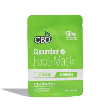 CBDfx - CBD Face Mask - Cucumber - 50mg