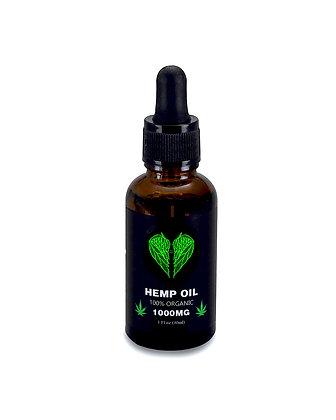 Hemp Seed Oil - Premium Grade - 100% Organic - 1000MG - 1 Fl. Oz. / 30 Ml.