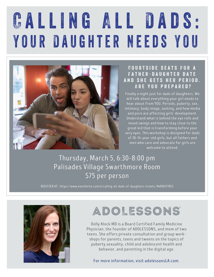 Dads of Daughters!  Registration Now Open