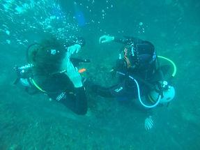 scuba divers training