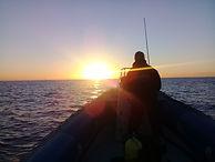 skipper at sunrise