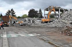 Laxou, démolition immeuble CIC