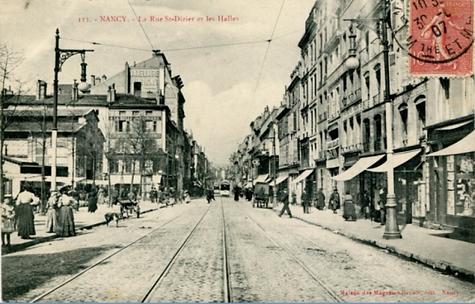 Nancy hier, rue saint Dizier