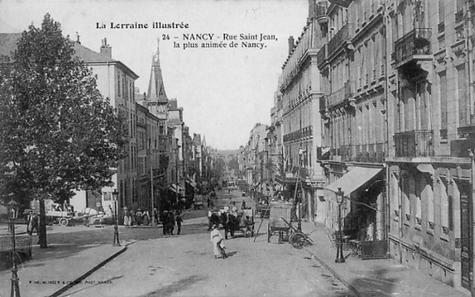 Nancy hier, rue saint Jean