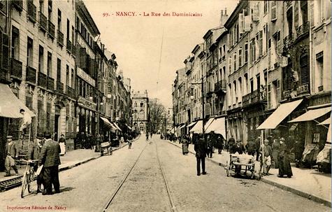 Nancy hier, rue des Dominicains