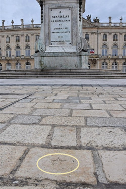 "Nancy, pavé ""étoilé"" place Stanislas"
