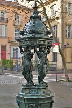 Nancy, restauration de la fontaine Wallace