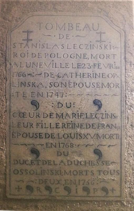 sépulture de Stanislas Leszczynski