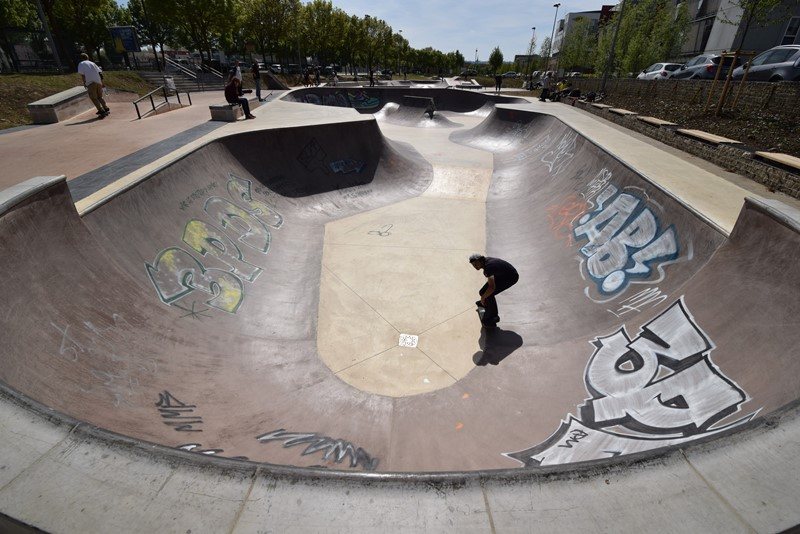 Nancy, skatepark Rives de Meurthe